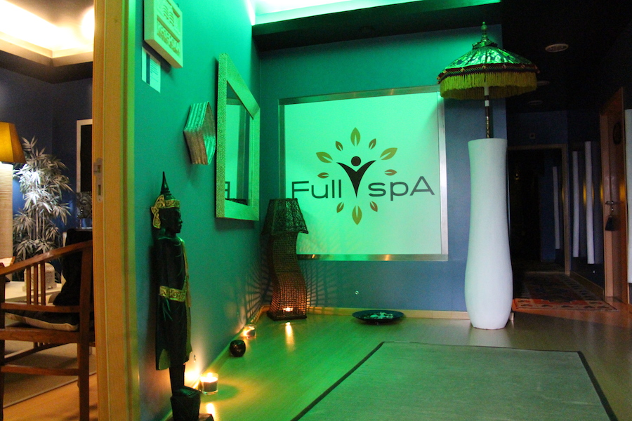 corredor de acesso as salas full spa
